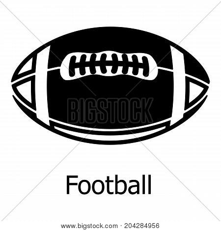 Rugby ball icon. Simple illustration of rugby ball vector icon for web