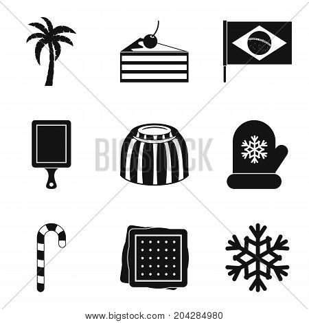Season of coffee icon set. Simple set of 9 season of coffee vector icons for web design isolated on white background