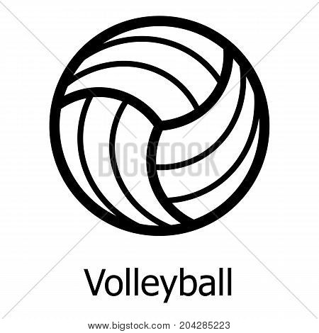 Volleyball icon. Simple illustration of volleyball vector icon for web