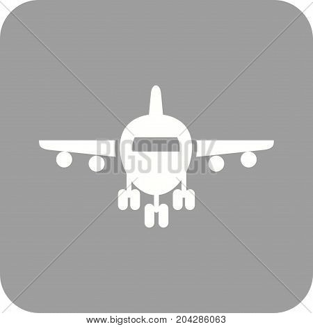 Plane, runway, airport icon vector image. Can also be used for airport. Suitable for mobile apps, web apps and print media.