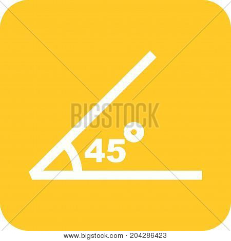 Math, geometry, angle icon vector image. Can also be used for Math Symbols . Suitable for use on web apps, mobile apps and print media.