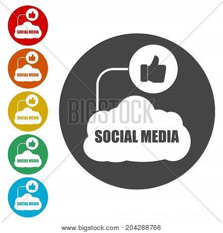 Social media design, Social media icon, vector icon