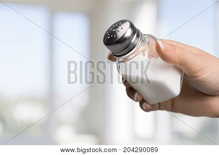 Holding hand salt salt cellar body part salt shaker mineral