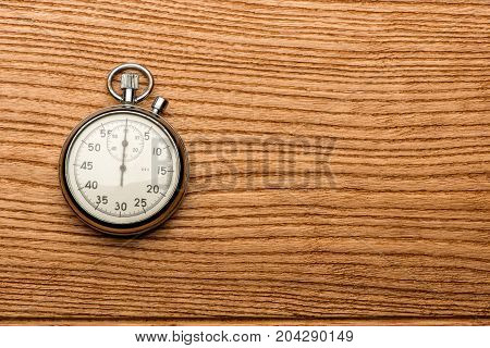 stopwatch on the table, result, seconds, arrow, minute
