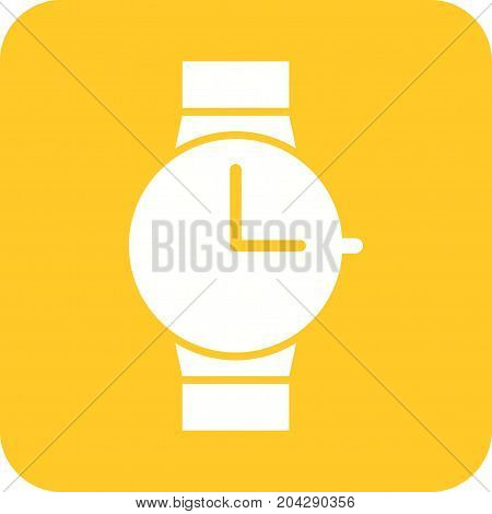 Watch, wrist, casual icon vector image. Can also be used for Mens Accessories. Suitable for web apps, mobile apps and print media.