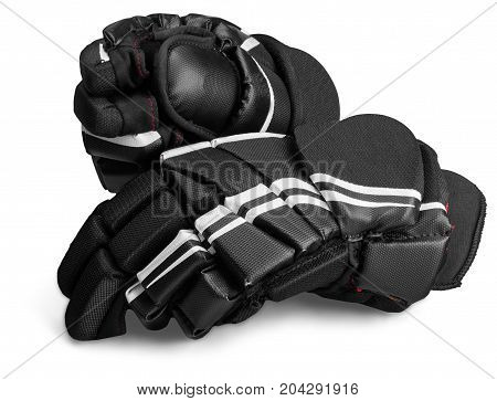 Hockey gloves gear protecting isolated protective equipment