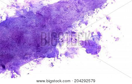 Abstract Hand Painted Blue Paint Canvas Background. Blue Abstract Watercolor Background. Art Hand Pa