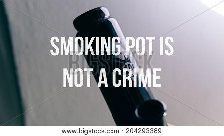 Glass Bongs For Smoking Pot Close-up Soft Focus.  Smoking Pot Is Not A Crime