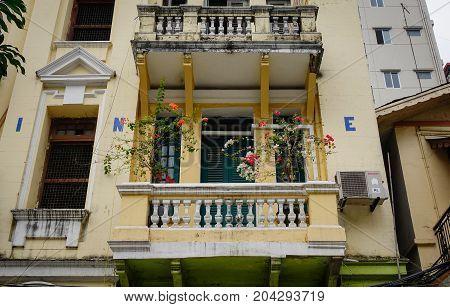 Old Buildings Located In Yangon Myanmar