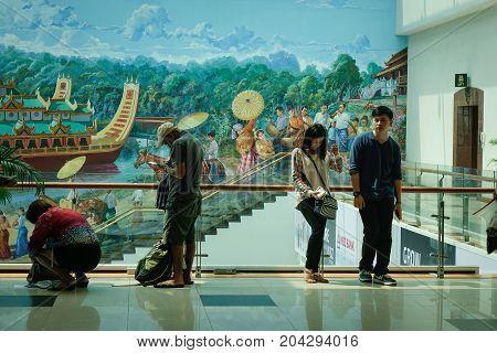 Yangon International Airport In Myanmar