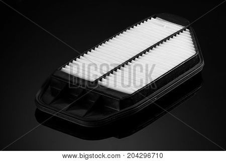 Automobile Filter On A Black Background