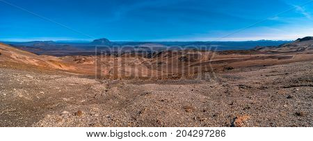Panoramic View Of Askja Caldera In Highlands Of Iceland, Summer