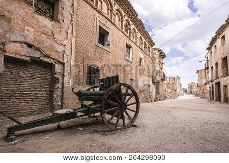 Belchite is a municipality of the province of Zaragoza, Spain. It is known for having been a scene of one of the symbolic battles of the Spanish Civil war, Belchite's battle