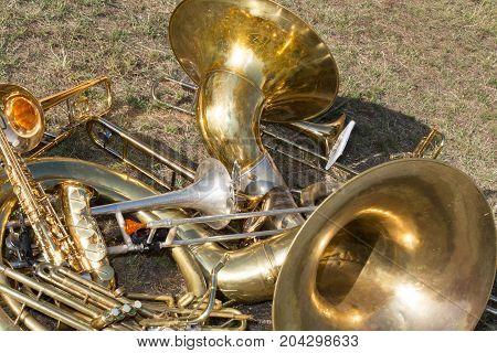 Saxophone Gold Tubes - Trombone - Brass