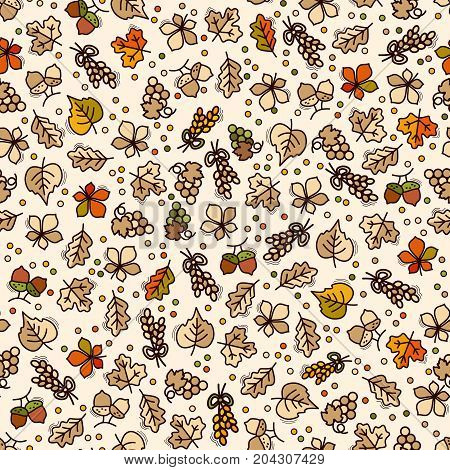 Seamless harvest pattern motif can be used in textiles for book design website background