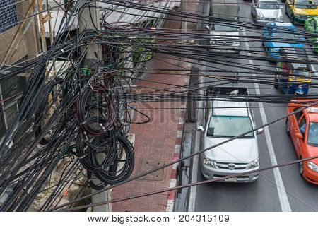 Confused Of Electrical Wires On Electric Poles