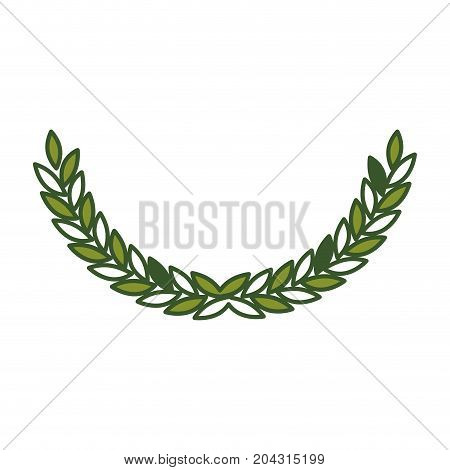 olive arch in green color vector illustration