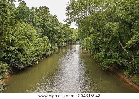 A Rural Creek in the appalachian mountains.