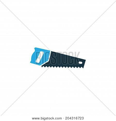 Premium Quality Isolated Handsaw Element In Trendy Style.  Saw Colorful Icon Symbol.