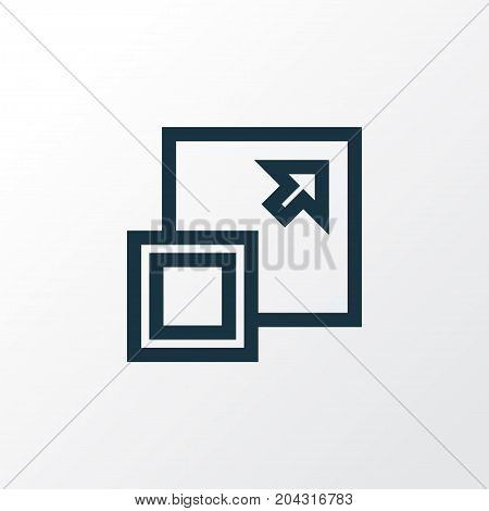 Premium Quality Isolated Maximize Element In Trendy Style.  Enlarge Outline Symbol.