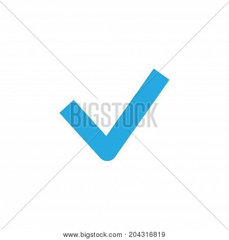 Premium Quality Isolated Done Element In Trendy Style.  Checkmark Colorful Icon Symbol.