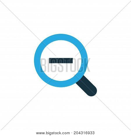 Premium Quality Isolated Magnifying Element In Trendy Style.  Zoom Out Colorful Icon Symbol.