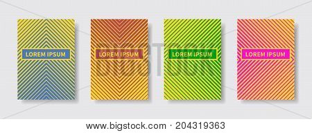 Minimal covers design. Geometric halftone gradients. Abstract lines modern different color gradient style. EPS10