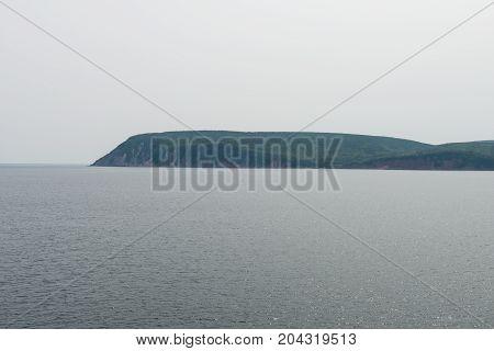 Across South Bay Ingonish to Cape Smokey Provincial Park Cape Breton Island Nova Scotia Canada