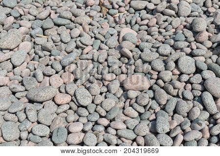 Smoothed rocks on Ingonish Beach Cape Breton Highlands National Park Nova Scotia Canada