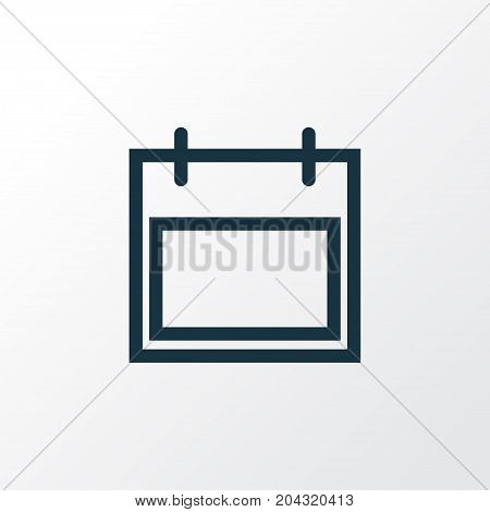 Premium Quality Isolated Calendar Element In Trendy Style.  Date Outline Symbol.