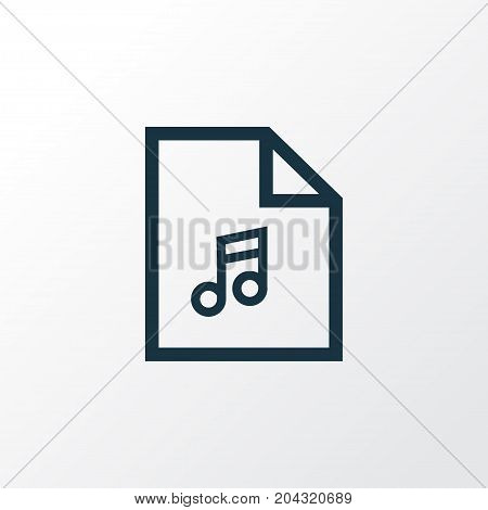 Premium Quality Isolated Playlist Element In Trendy Style.  Song List Outline Symbol.