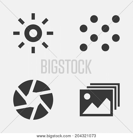 Image Icons Set. Collection Of Wb Iridescent, Image, Focus And Other Elements