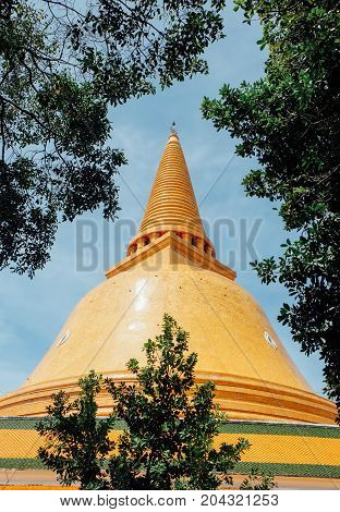 The Great Pagoda, Nakhon Pathom Thailand, the Buddhist rituals.