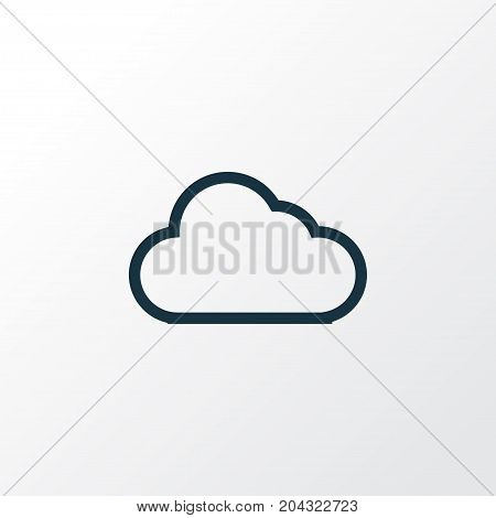 Premium Quality Isolated Cloud Element In Trendy Style.  Storage Outline Symbol.