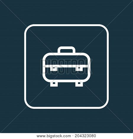 Premium Quality Isolated Toolbox Element In Trendy Style.  Equipment Outline Symbol.