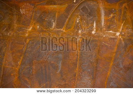 beatiful pattern old metal iron rust texture Decay Use for abstract Background