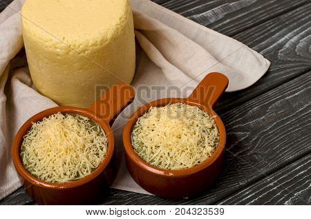 Cooking Cream Of Broccoli Soup With Cheese.