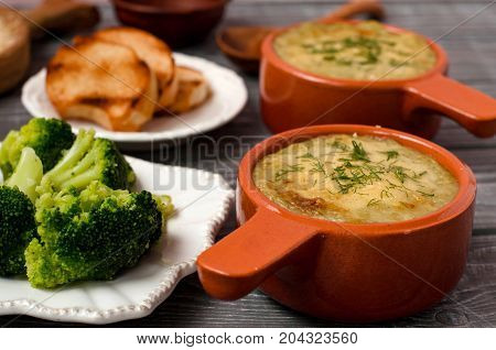 Cream Soup Of Broccoli With Cheese