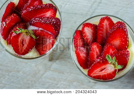 Strawberry Dessert - Top View.