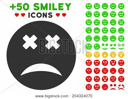 Blind Smiley icon with colored bonus mood pictograph collection. Vector illustration style is flat iconic elements for web design, app user interfaces, messaging.