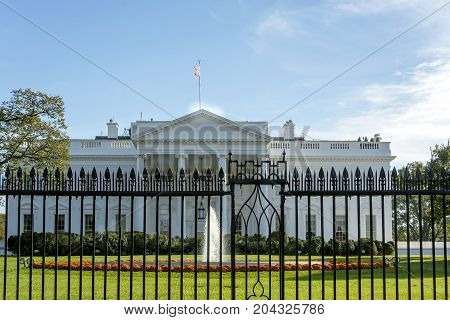 The White House Behind The Fence