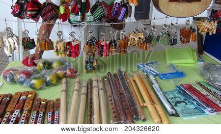 Crafts in Santa cruz. Bolivia south America