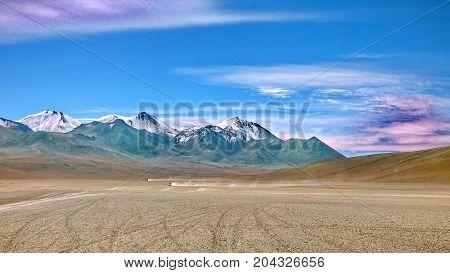 Siloli desert in Altiplano. Bolivia south America