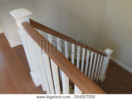 stairs interior staircase white and wood classical handrails ramp architecture steps