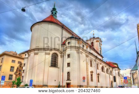 Catholic Church of Assumption of Our Lady in the old town of Brno - Moravia, Czech Republic