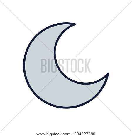 Moon icon. Moon in cartoon style isolated on background. Vector stock.