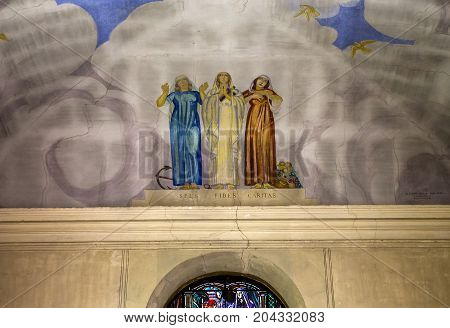 Chapel Of Maurice Denis, Saint Germain En Laye, France
