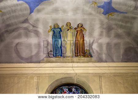 Chapel Of Maurice Denis, Saint Germain En Laye, France