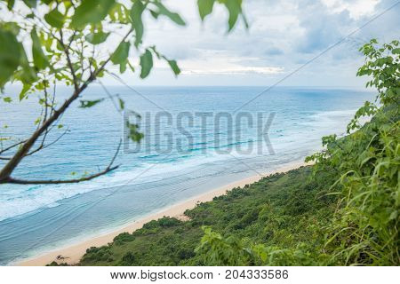 Nyang Nyang White Sands Beach On Bali Indonasia