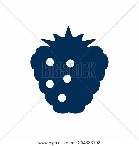 Vector Raspberry Element In Trendy Style.  Isolated Berry Icon Symbol On Clean Background.